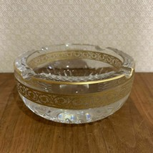 Rhea Saint Louis Saint-Louis Thistle large Aya Kon etching ashtray Ashtr... - $469.11