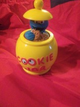Vtg Rolling Pop Up Cookie Monster Cookie Jar - $18.40
