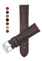22mm Brown Mens' Alligator Style Genuine Leather Watch Strap Band - $68.66