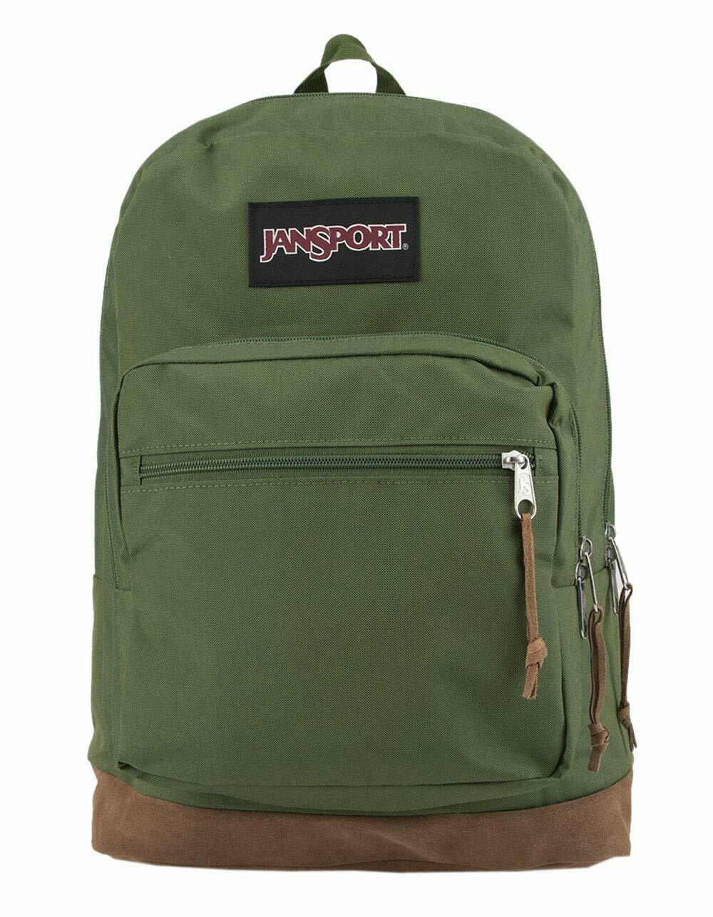 JanSport Right Pack Digital Edition Laptop Backpack New Olive Yarn-dye - $57.98