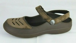 Crocs women's sandals Mary Jane brown size 4 - $28.31