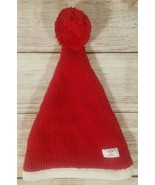 Janie and Jack Infant Size 0-3 Months Knit Stocking Cap Hat Red White Ch... - $24.24