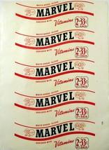 Vintage bread wrapper MARVEL WHITE BREAD Jane Parker Bakers A and P unus... - $9.99