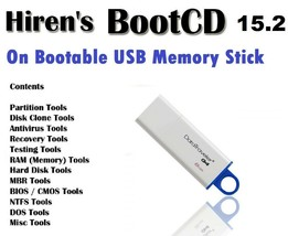 Hiren's BootCD on bootable USB: Fix Your Computer & Recover Lost Data - $10.93
