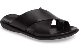 Mens Kenneth Cole New York Under-Sand-Able Black Slide Sandals [KMS7LE04... - $111.66 CAD