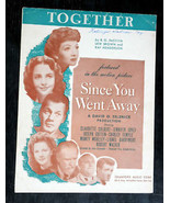 Together in Motion Picture, Since You Went Away 1928 Sheet Music Brown a... - $2.50