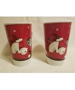 Lot 2 Starbucks Christmas Mug 2011 Boy & Dog on sled Coffee Cup Christma... - $19.79