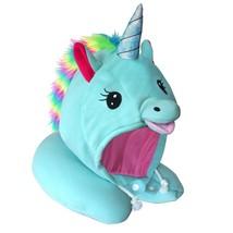 Adorable Unicorn Hooded Animal Travel Neck Pillow Plush Toy Comfy Neck S... - $48.42