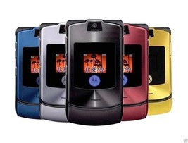 ORIGINAL Motorola RAZR V3i Black Metal 100% UNLOCKED Mobile Phone WARRAN... - $49.35