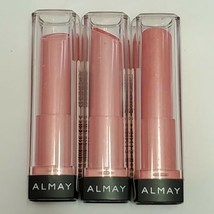 3x Almay Smart Shade Butter Kiss Lipstick 20 Pink Light Lips Cosmetic Ma... - $19.99