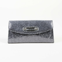Jimmy Choo Silver Glitter Fabric Clutch - $315.11 CAD