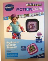 Vtech Kidizoom Actioncam Purple Camera Video Waterproof Case 4+ Years Open Box - $82.19