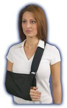 Med Spec Padded Arm Sling with soft padded shoulder strap, Black, XX-Small - $13.99