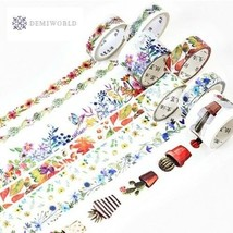 Colorful Flower Style Design Washi Tape Decorative Paper Tapes for Arts ... - £3.02 GBP