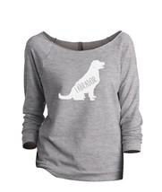Thread Tank Labrador Dog Silhouette Women's Slouchy 3/4 Sleeves Raglan Sweatshir - $24.99+