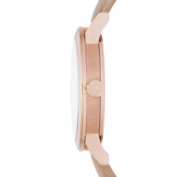 Authentic Burberry Watch BU9014 City Check Stamped Round Dial Nude Leather image 2