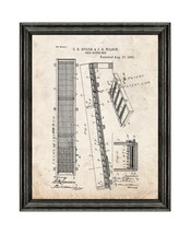 Gold Sluice Box Patent Print Old Look with Black Wood Frame - $24.95+