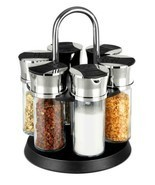 Home Basics NEW 6 Piece Revolving Glass Spice Rack - SR01236 - £21.46 GBP