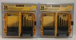 "(New) Dewalt DW1162 14 Pieces Black Oxide Drill Bit Set 1/16 - 3/8"" Pack of 2 - $45.53"