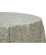 SEQUINS TABLECLOTH SHAPES Colors - Sequins Metallic Rectangle-  Round, S... - $64.00
