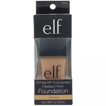 ELF Oil Free Foundation Flawless Finish SPF15 Sunscreen Caramel 83114 - $9.85