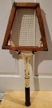 Vintage A.J.Spalding Bros. Mercer Beasley Wood Tennis Racket w/ Press Brace - $16.44