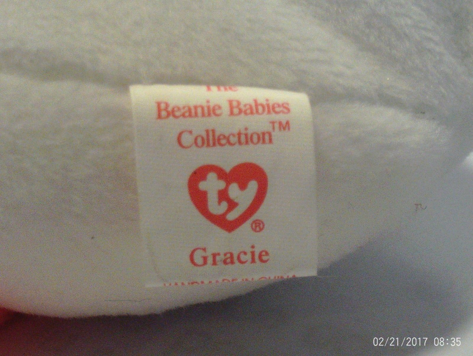 1st Edition Beanie Babies Rare Gracie the Swan No star, no stamp, PVC