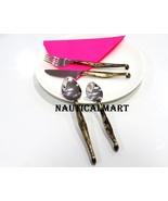 Al-Nurayn Medieval Brass Flatware,Stainless Steel Cutlery Set By Nautica... - $49.00