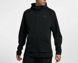 Nike Men's Tech Fleece Full-Zip Hoodie NEW AUTHENTIC Black 928483-010 - $109.49