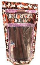 Natural Gourmet Beef Recipe Rolls Dog Treat, Made in USA, 10oz Pouch image 2