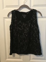 By Chico's Black Tank Top With Sequence Design Size 0 - $8.90