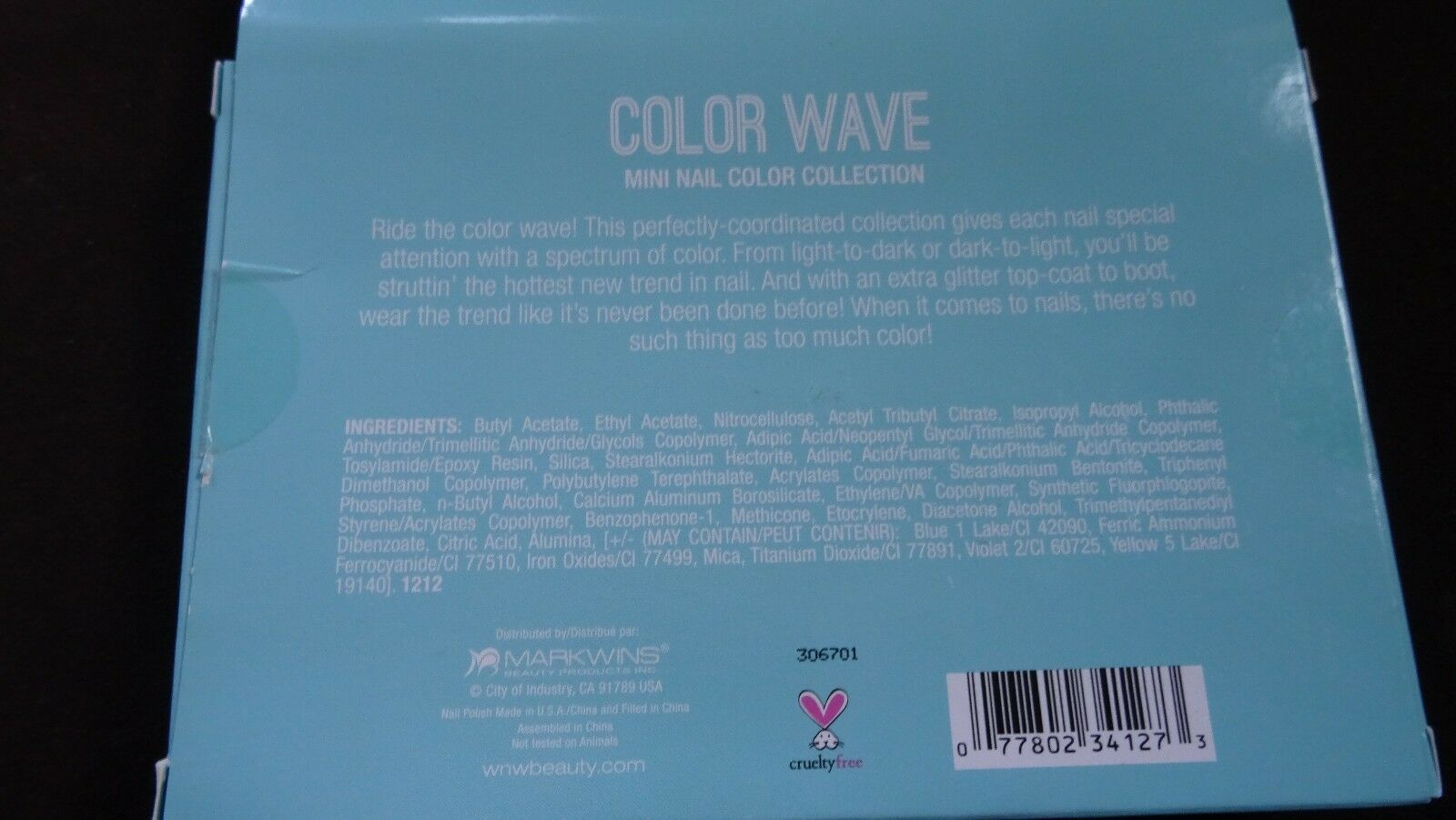 WET N WILD - COLOR WAVE - 6 mini nail polish collection - wild shine - NEW Blues