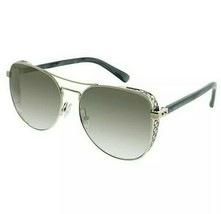 New Jimmy Choo Jch Sheena Sunglasses B4E White Gold 100% Authentic - $182.03