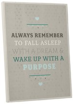 """Pingo World 0108QCP815G """"Wake Up with Purpose Motivational Happiness Quote"""" Gall - $44.50"""