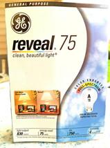 GE 75 Watt A19 Reveal Incandescent Light Bulbs 48689, 4-Pack  - $19.36