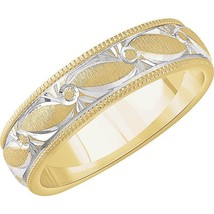 Rhodium Plated 14K Yellow Gold Comfort Fit 6 MM... - $1,149.00 - $1,539.00