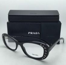 Nuevo Prada Gafas Vpr 21R 1AB-1O1 53-19 140 Negro Brillante Monturas con /