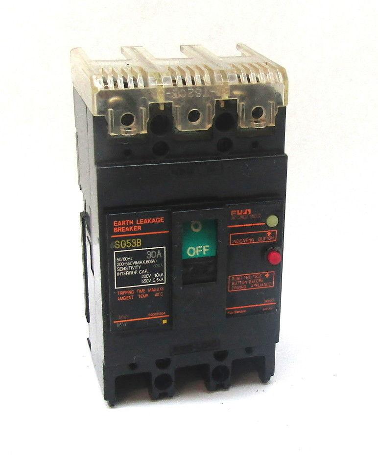 Fuji Electric SG53B 30 A Earth Leakage Breaker - $49.50
