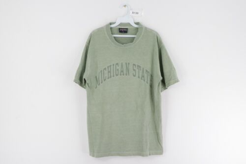 Primary image for Vintage 90s Jansport Mens Medium Michigan State University Faded T Shirt Green