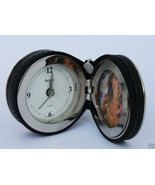 "NEW LEATHER WRAPPED ALARM CLOCK & FRAME - 2""  - $27.95"