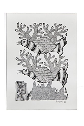 Wall Hanging Gond Painting (Exclusive Bird on a Tree) Size :- 14/11 Inch
