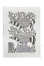 Wall Hanging Gond Painting (Exclusive Bird on a Tree) Size :- 14/11 Inch - $135.00