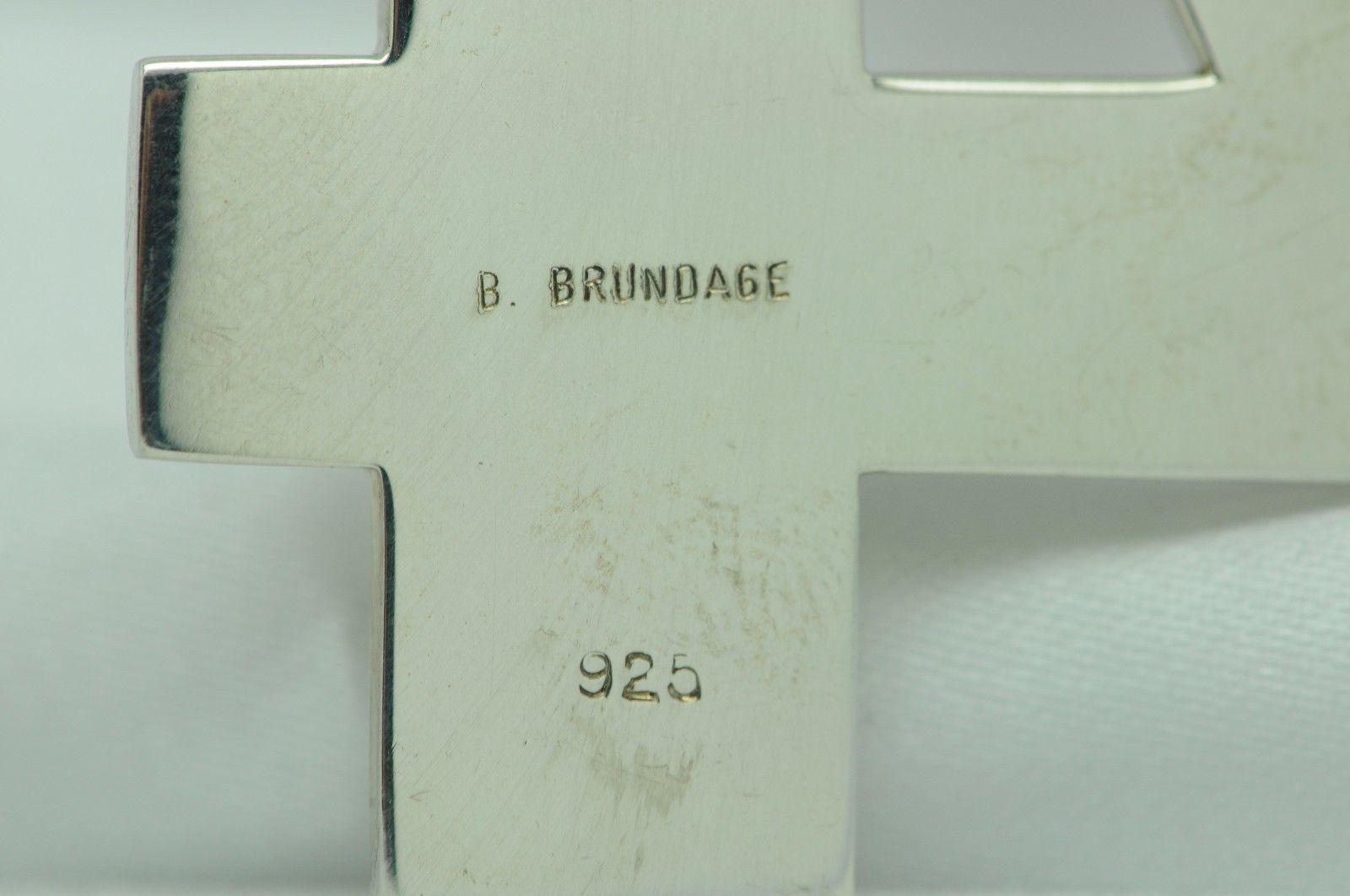 B. Brundage Sterling Silver Number 4 Pendant