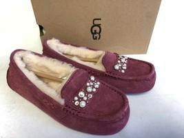 Ugg Australia Ansley Brilliant Crystal Garnet Sheepskin Mocc ASIN 1019193 - $89.99