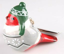 2 Target Wondershop Toymaker Hand Painted Ceramic Bird Ornaments 2018 NWT image 5