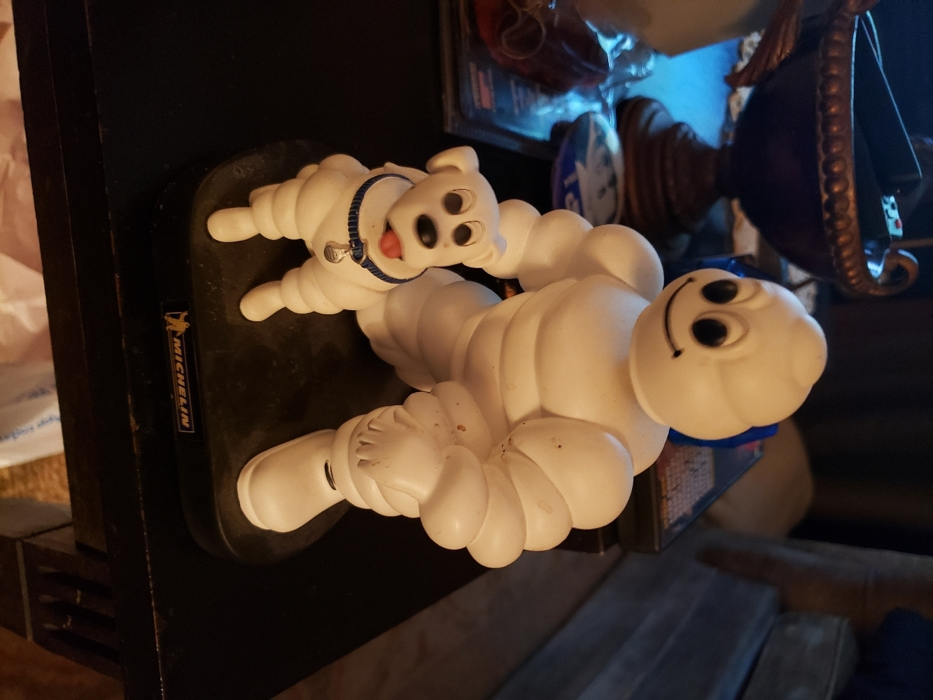 Primary image for michelin man bobblehead with dog