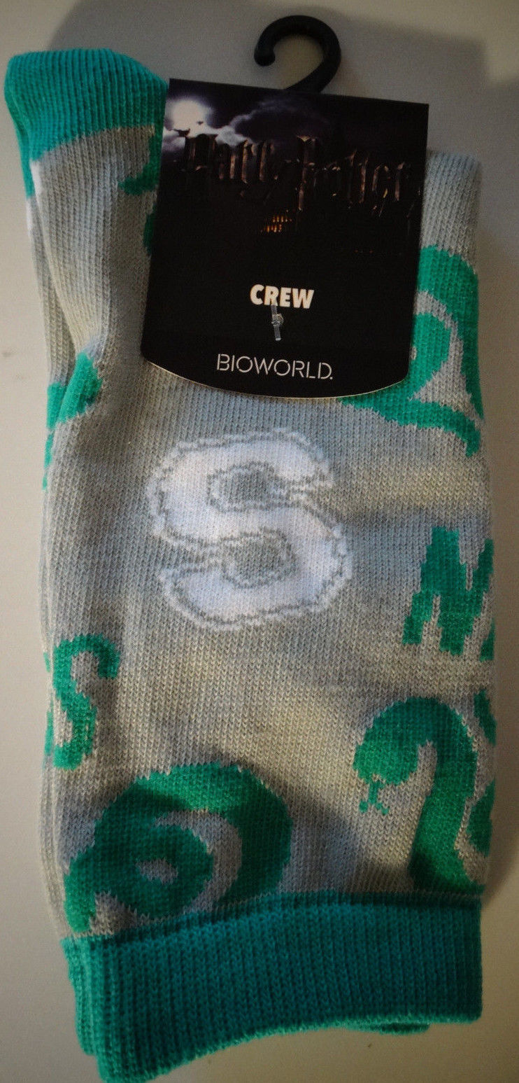 Harry Potter Movie Slytherin, Gryffindor, Raven Claw, Hufflepuff Crew Socks Nwt