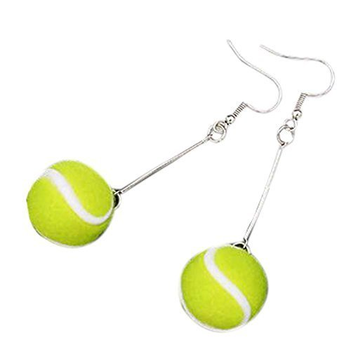 Set of 2 Sports Style Interesting Earrings Stylish Individuality Earrings,Tennis