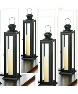 "Lot of 10 Tower Lantern Candle Holder Wedding centerpieces 12.2"" Tall- Set - ₹9,051.87 INR"