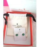 KATE SPADE Gumdrop Stud Earrings GREEN AB New w/Dustbag, Box, Tags - $39.99
